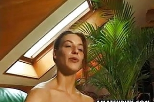 German amateur GF pussy fingered and full blowjob