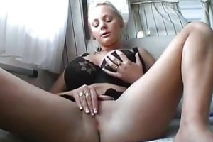 Busty German girl masturbation and fuck